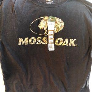 NWT Mossy Oak Adult Large Classic Fit Black TShirt